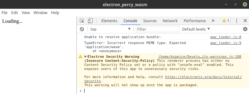 TypeError: Incorrect response MIME type. Expected 'application/wasm'.